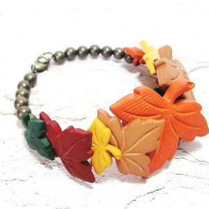 Fall Leaf Button Bracelet