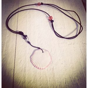 Sea Shell Minimalist Leather Necklace