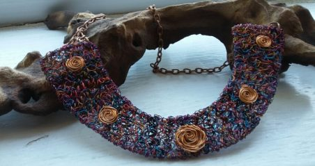 Wire Wrapped Cuff from Multi Colour Coiled Wire by Louise  - featured on Jewelry Making Journal