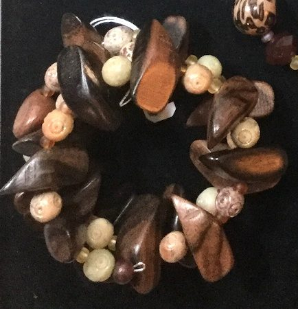 Wooden and stone bracelet by Colleen  - featured on Jewelry Making Journal