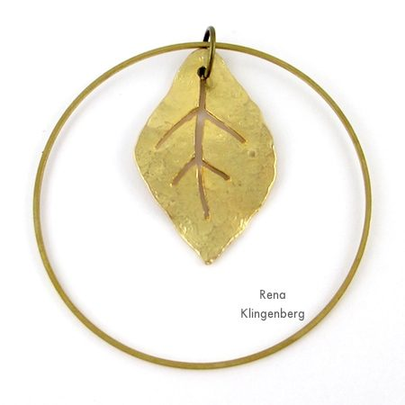 Layering brass pendants for Fun with Layering Pendants - Tutorial by Rena Klingenberg