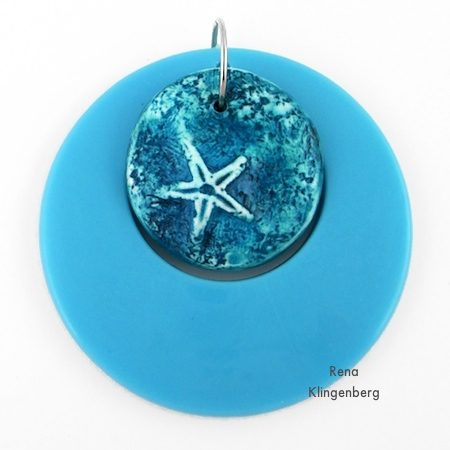 Layered blue pendants for Fun with Layering Pendants - Tutorial by Rena Klingenberg