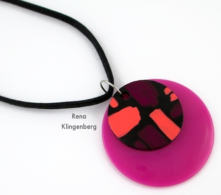 Fuchsia pendants for Fun with Layering Pendants - Tutorial by Rena Klingenberg