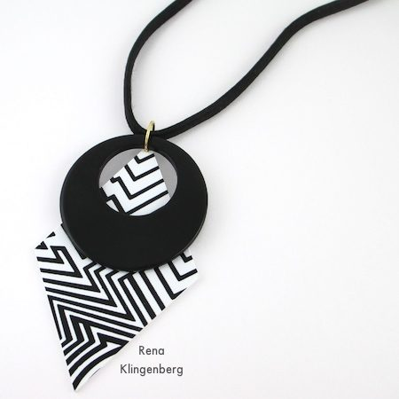 Black and white Fun with Layering Pendants - Tutorial by Rena Klingenberg