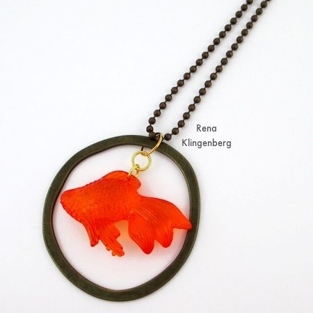 Goldfish in a Bowl - Fun with Layering Pendants - Tutorial by Rena Klingenberg