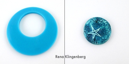 Blue pendants for Fun with Layering Pendants - Tutorial by Rena Klingenberg