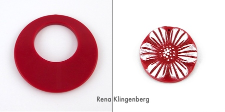 Red pendants for Fun with Layering Pendants - Tutorial by Rena Klingenberg