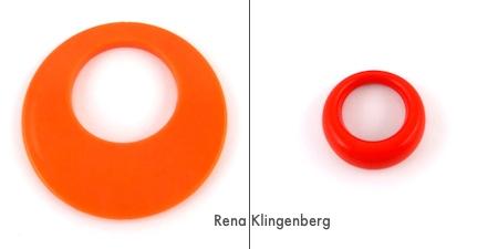 Orange pendants for Fun with Layering Pendants - Tutorial by Rena Klingenberg