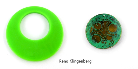 Green pendants for Fun with Layering Pendants - Tutorial by Rena Klingenberg
