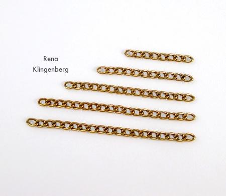 Correntes de corte para cordões geométricos em cascata, Two Ways - Tutorial de Rena Klingenberg