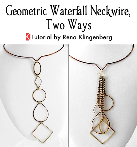 Geometric Waterfall Neckwire, Two Ways - Tutorial by Rena Klingenberg