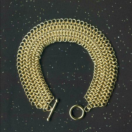Gold Chain Maille bracelet by Donna Jadis  - featured on Jewelry Making Journal