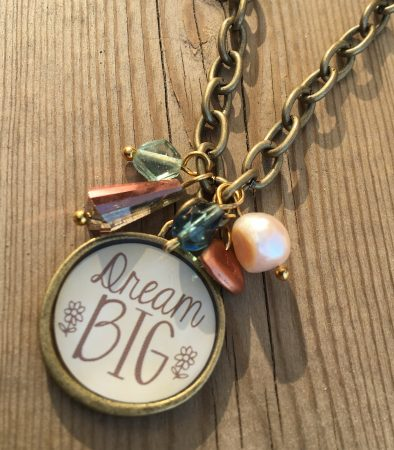 Dream Big Necklace by Sarah Reid  - featured on Jewelry Making Journal