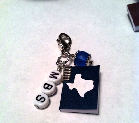 Souvenir Charm for Miniature Book Society, by April's Studio  - featured on Jewelry Making Journal