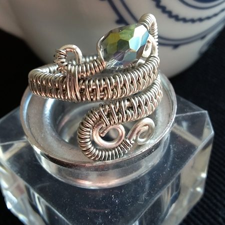 Wire Woven Ring by Louise  - featured on Jewelry Making Journal