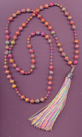 Recent design based on a rainbow tassel that I made by Donna Jadis  - featured on Jewelry Making Journal