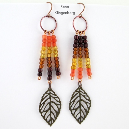 Ombre Autumn Earrings (Tutorial)