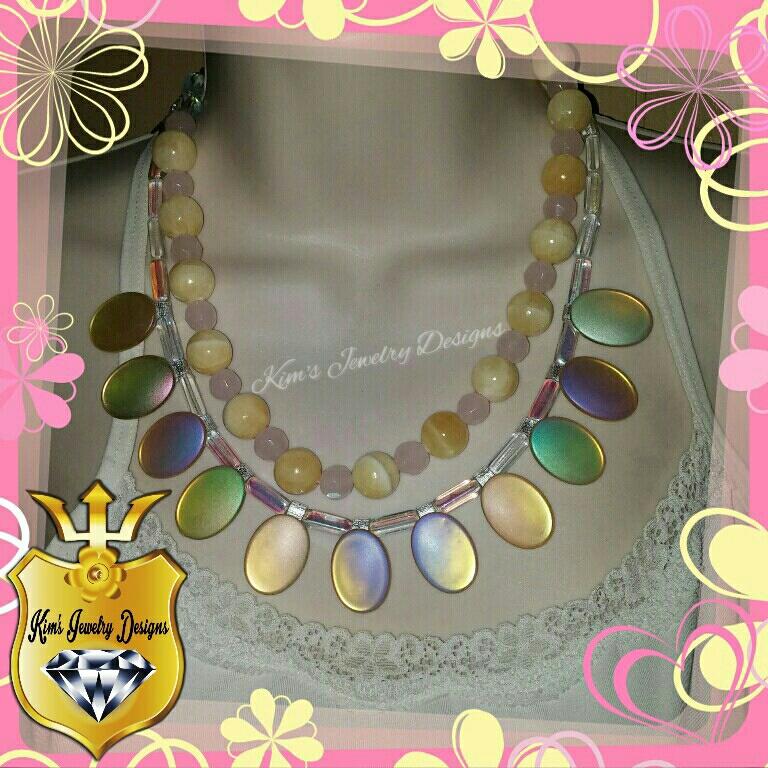Calcite & Rose Quartz Necklace