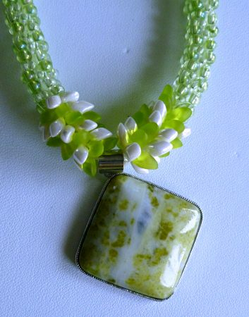 Beaded Kumihimo Necklace by Anita Campbell  - featured on Jewelry Making Journal