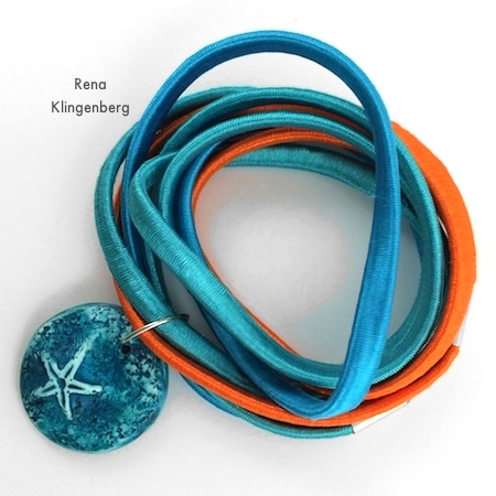 "Wrapping ""Summer"" bracelet around your wrist - Easy Multi Wrap Bracelet - Tutorial by Rena Klingenberg"