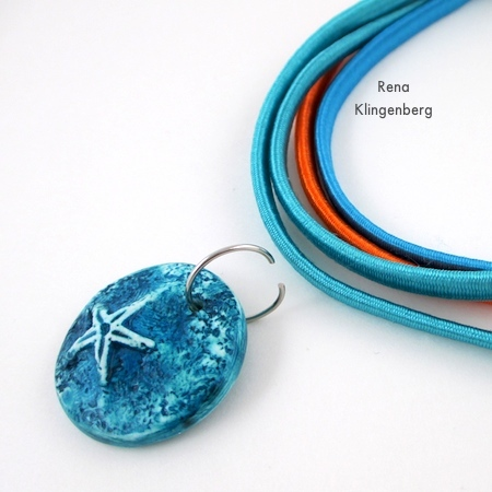 "Attaching the pendant to ""Summer"" Easy Multi Wrap Bracelet - Tutorial by Rena Klingenberg"