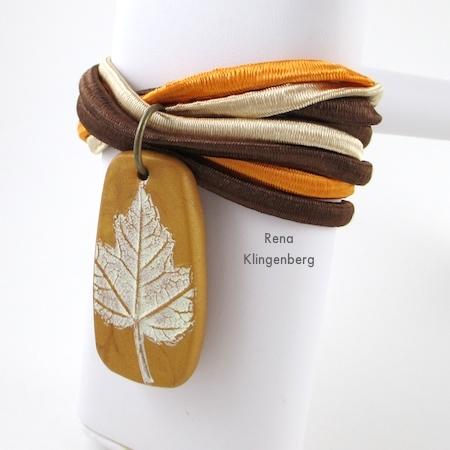 """""""Outono"""" Pulseira Multi Wrap Fácil - Tutorial de Rena Klingenberg"""