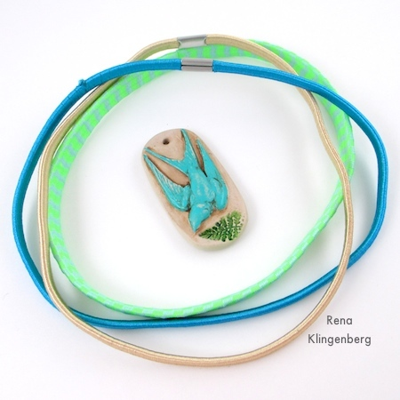 Headbands and pendant for Spring Easy Multi Wrap Bracelet - Tutorial by Rena Klingenberg
