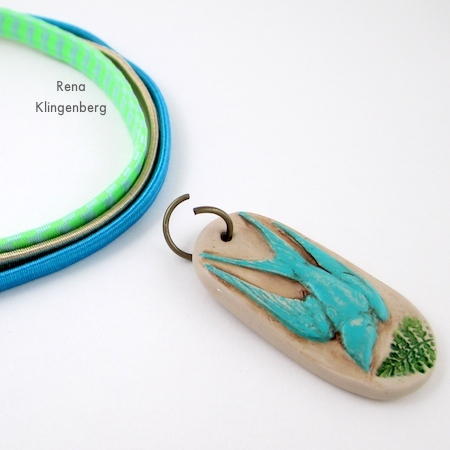 Attaching jump ring for Easy Multi Wrap Bracelet - Tutorial by Rena Klingenberg
