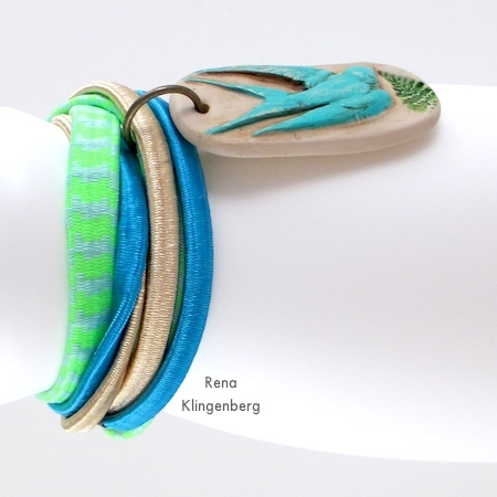 How to wear your finished Easy Multi Wrap Bracelet - Tutorial by Rena Klingenberg