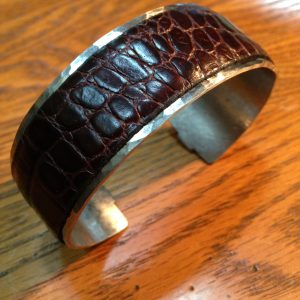 Stainless Steel and Leather Men's Bracelet