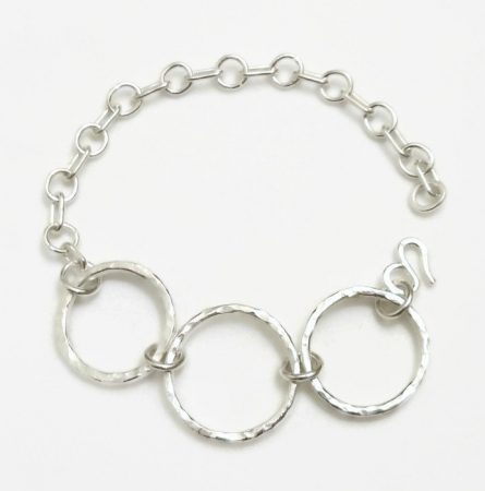 Hammered Silver Chain Bracelet by Darlene Weberg  - featured on Jewelry Making Journal