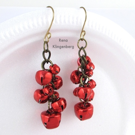 Jingle Bell Jewelry Set - Tutorial by Rena Klingenberg