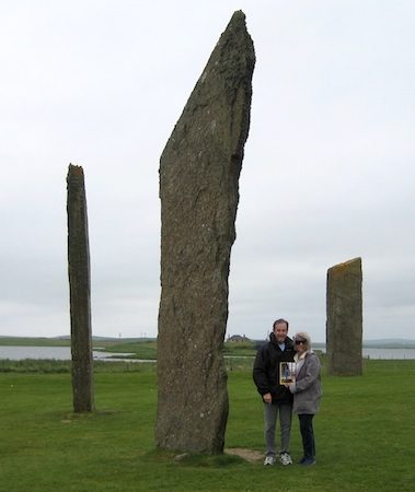 With husband Jerry in Orkney