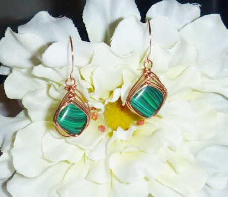 Wire Herringbone Earrings by Donna Westbrook  - featured on Jewelry Making Journal
