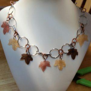 Acrylic Leaf Necklace