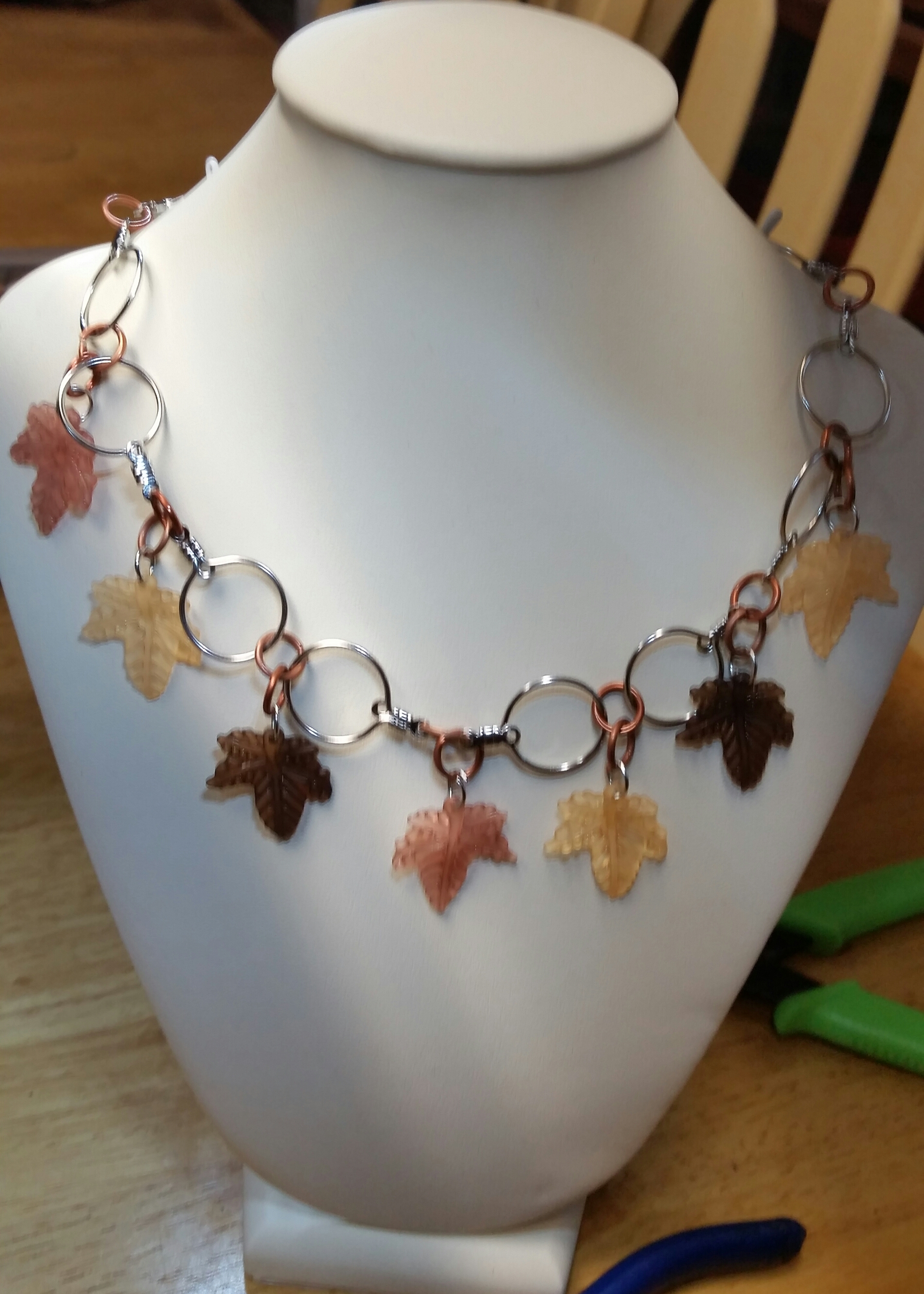 Acrylic Leaf Necklace
