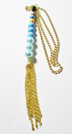 Stick pendant (silicone/perlised glass beaded)  by Joybelle Malcolm  - featured on Jewelry Making Journal