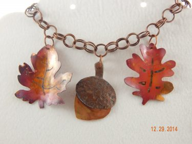 Autumn Leaves in Metal and Chainmaille