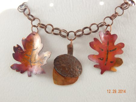 Autumn Leaves in Metal and Chainmaille by Elizabeth Reid  - featured on Jewelry Making Journal
