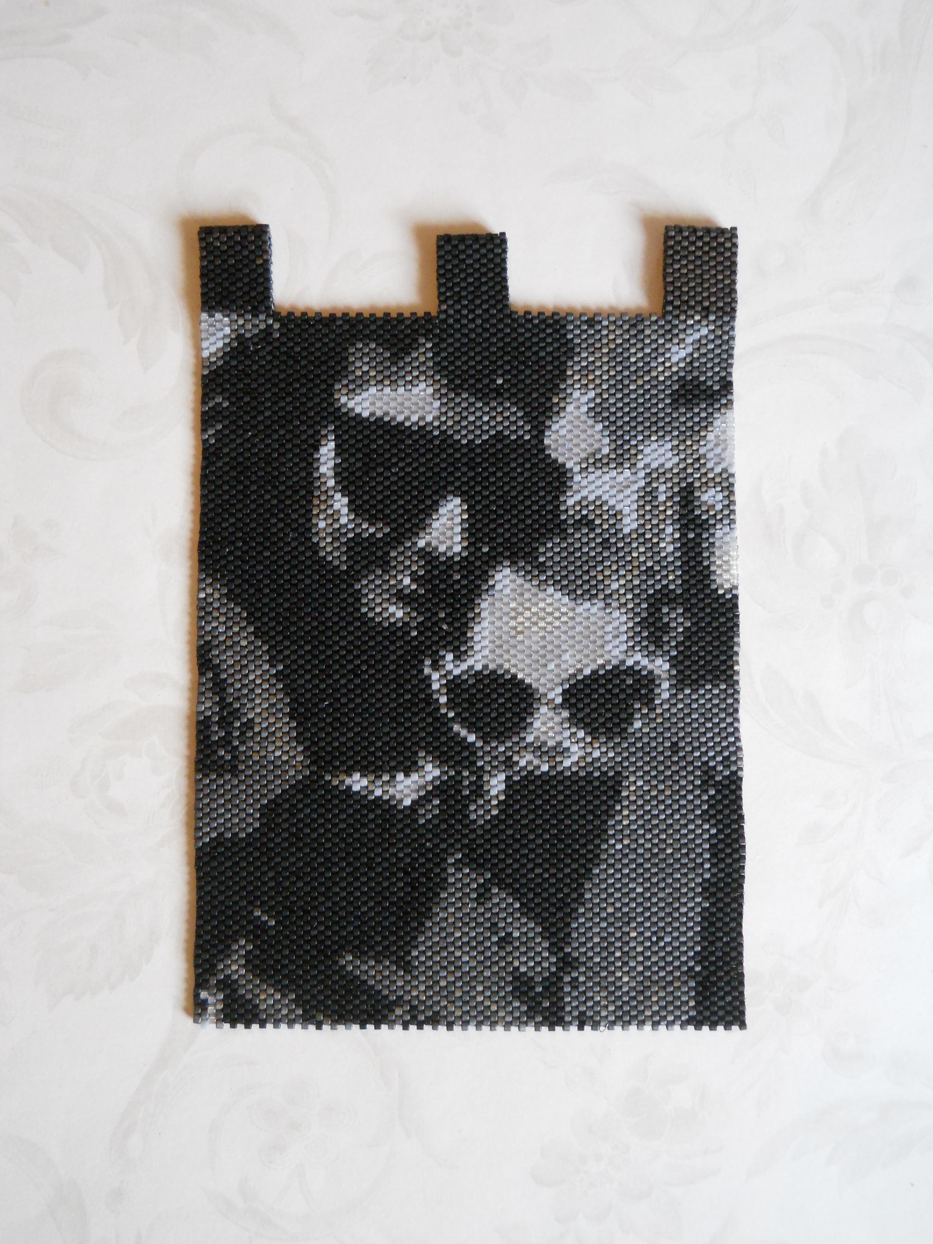 Photo Turned Into Peyote Stitch Wall Hanging