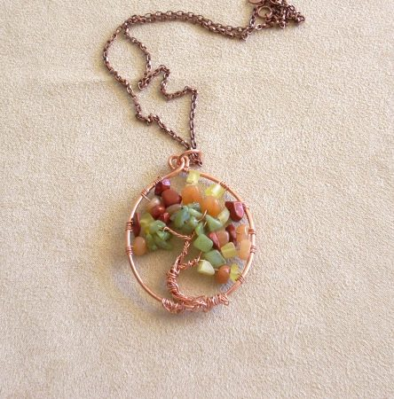 Autumn Tree of Life by Nancy Vaughan  - featured on Jewelry Making Journal