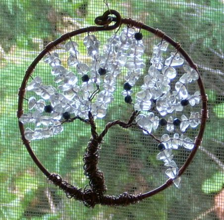 Winter Tree of LIfe Suncatcher by Nancy Vaughan  - featured on Jewelry Making Journal