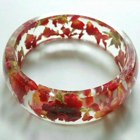 Floating Roses Bangle by Rossella  - featured on Jewelry Making Journal