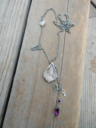 Chandelier crystal necklace by Lynda Carson  - featured on Jewelry Making Journal