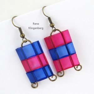 Earrings with Two-Hole Beads (Tutorial)