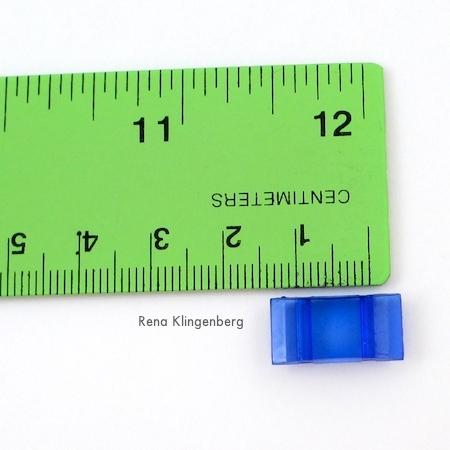 Contas de medição para brincos com contas de dois furos - Tutorial de Rena Klingenberg