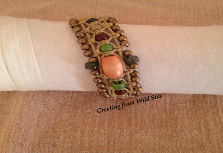 Autumn Themed Bracelet by Jean BH  - featured on Jewelry Making Journal