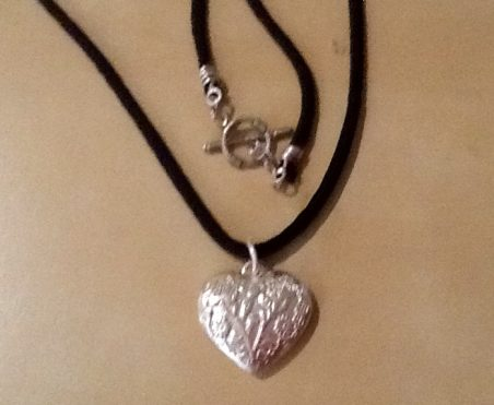 Recycled Heart with Melted Plastic Scraps by Dana  - featured on Jewelry Making Journal