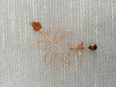 Fall Shawl / Scarf Pin by Beatriz (Betty) McTiernan  - featured on Jewelry Making Journal