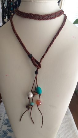 Braided Leather Wrap Choker by Georgena Allen  - featured on Jewelry Making Journal